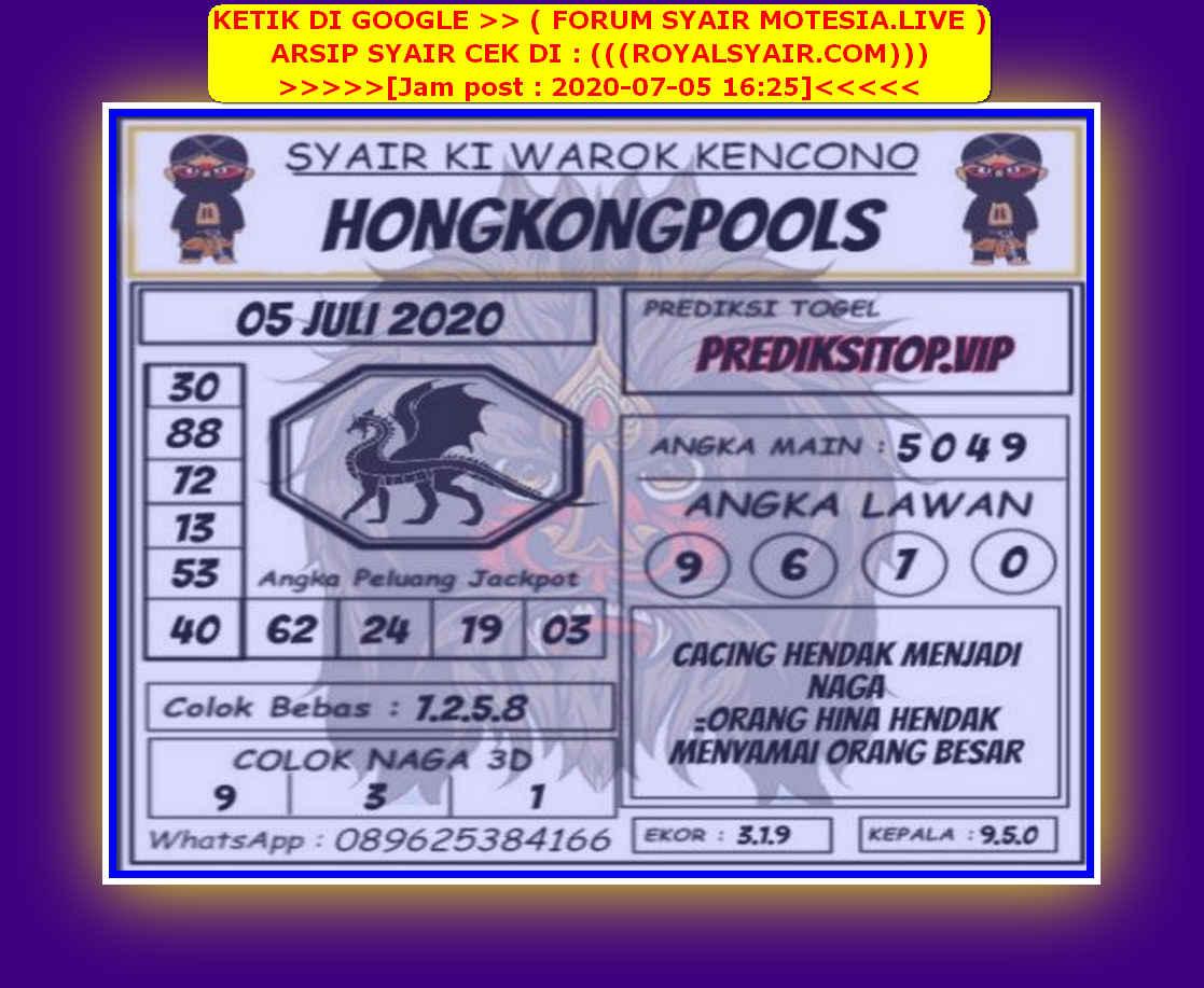 Kode syair Hongkong Minggu 5 Juli 2020 180