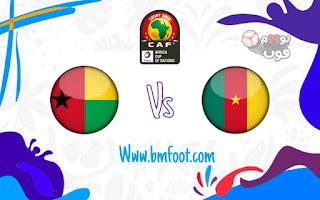 مباراة الكامرون و غينيا مباشر كاس افريقيا