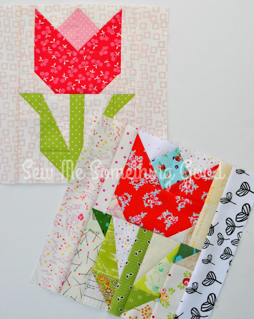 Terrific Tulip Quilt Block Pattern