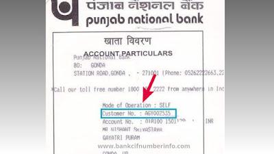 Check Customer id on PNB Passbook