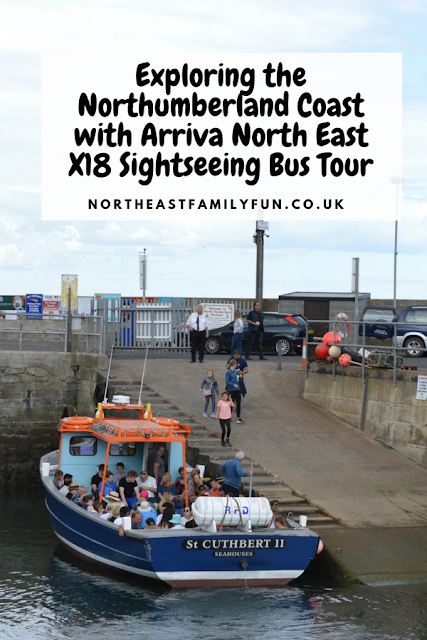 Exploring the Northumberland Coast with Arriva North East X18 Sightseeing Bus Tour