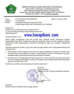 SK Dirjen Pendis tentang Panduan Penyusunan Modul PKB Guru Madrasah Tahun 2020