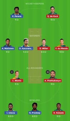 SL vs SA Dream 11 Team | SA vs SL