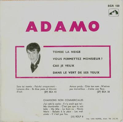 ADAMO Tombe la neige  EP  (1964)