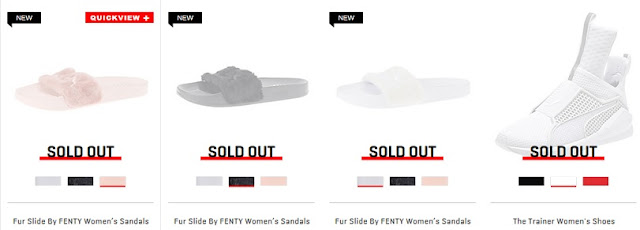 FENTY PUMA by Rihanna Sold Out