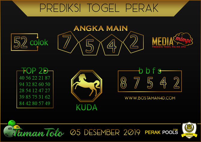 Prediksi Togel PERAK TAMAN TOTO 05 DESEMBER 2019