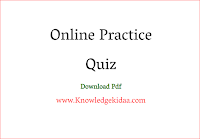 Online Practice Quiz Knowledge Kidaa