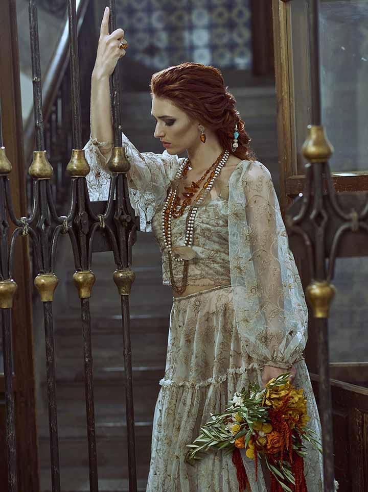 peinado de novia semi recogido trenzas 2020