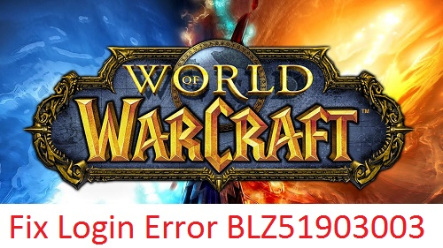 World of Warcraft error BLZ51903003 fixed
