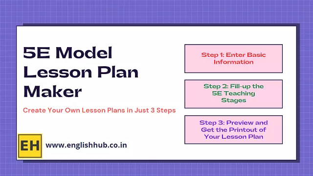 5E Model Lesson Plan Maker | Create Your Own Lesson Plans in Just 3 Steps