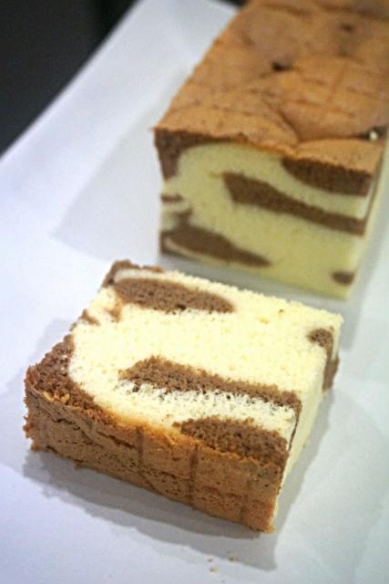 cocoa marble ogura cake