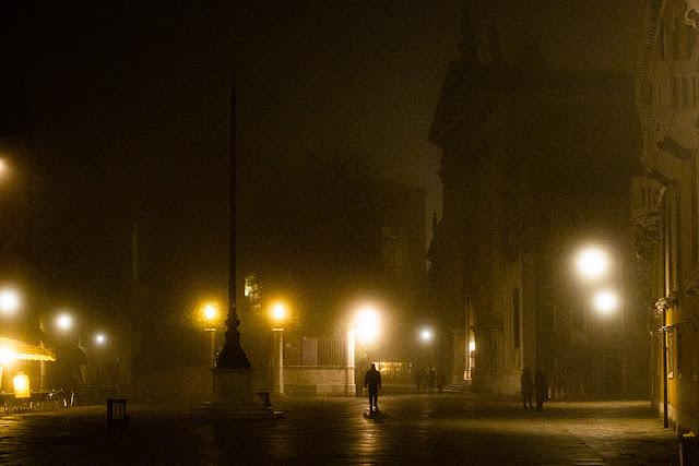 Venise dans la brume en hivers | Venise italie
