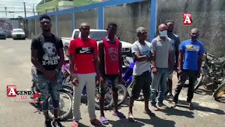 La policía recupera varias motocicletas tras apresamiento de haitianos en SFM