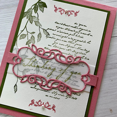 Card made with the Stampin' Up! Very Versailles Stamp Set