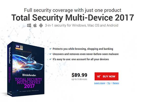 Antivirus terbaik saat ini yang bisa dicoba - Bitdefender Total Security