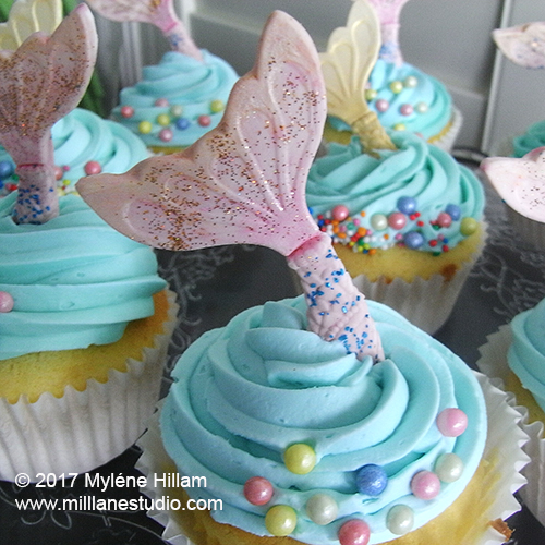 Mill Lane Studio: Silicone Putty Mold Making - Mermaid's Tail Cupcakes