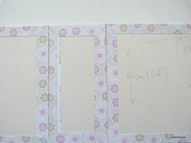 okładka albumu ręcznie robionego w wersji roboczej