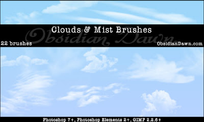 22 pinceles nubes photoshop