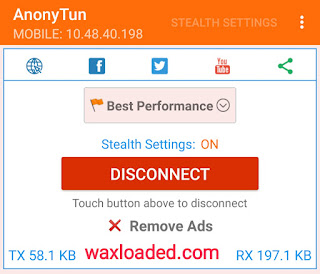 Unitel Unlimited Free Internet Trick for AnonyTun Apk