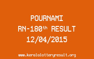 POURNAMI RN 180 Lottery Result 12-4-2015