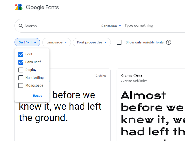 how to change blogger font