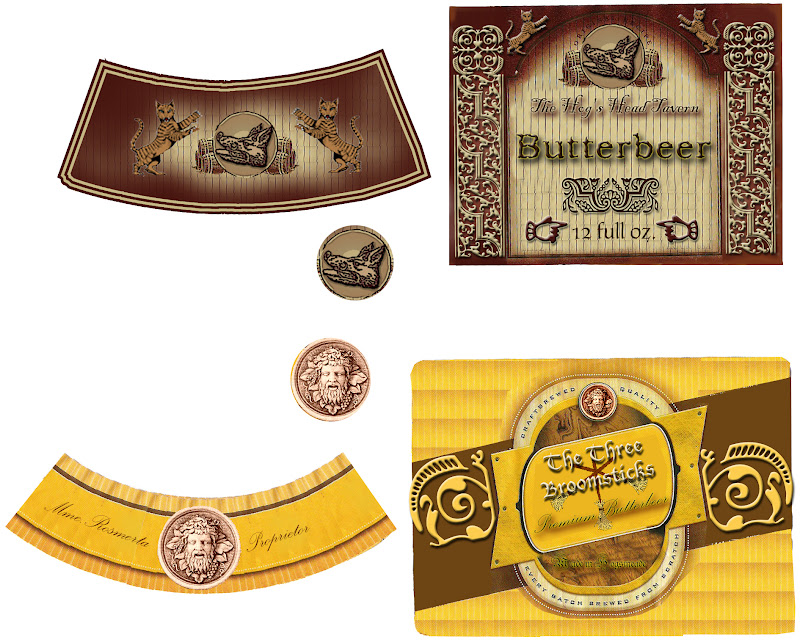 harry potters butter beer free printable labels