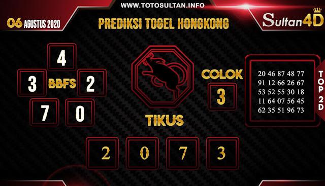PREDIKSI TOGEL HONGKONG SULTAN4D 06 AGUSTUS 2020