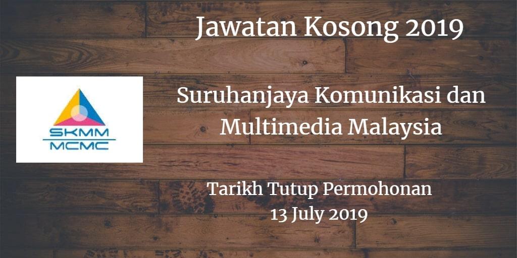 Jawatan Kosong SKMM 13 July 2019