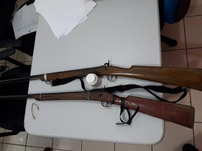 16º Batalhão: Polícia Militar retira mais quatro armas de fogo de circulação