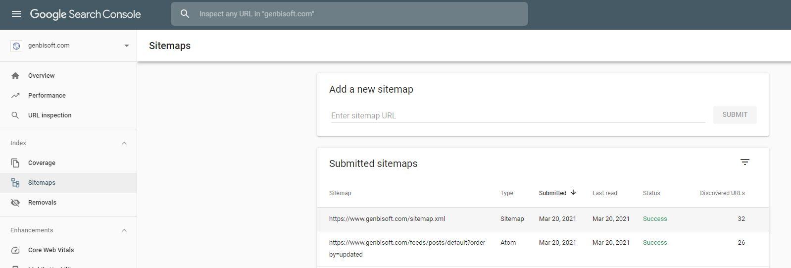 submit sitemap ke google search console (RahmanCyber.NET)