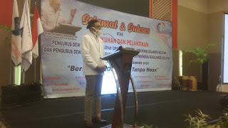 Sambutan Hangat Ketua Umum DPP AJO INDOENSIA Pada Pelantikan DPD,DPC di Hotel Claro Makassar