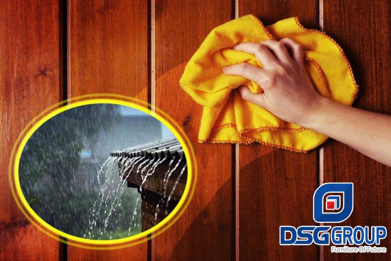 6 cách bảo quản đồ gỗ nội thất trong mùa mưa
