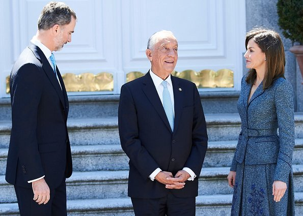 King Felipe of Spain and Queen Letizia of Spain held a official lunch at Madrid Zarzuela Palace in honour of Marcelo Rebelo de Sousa