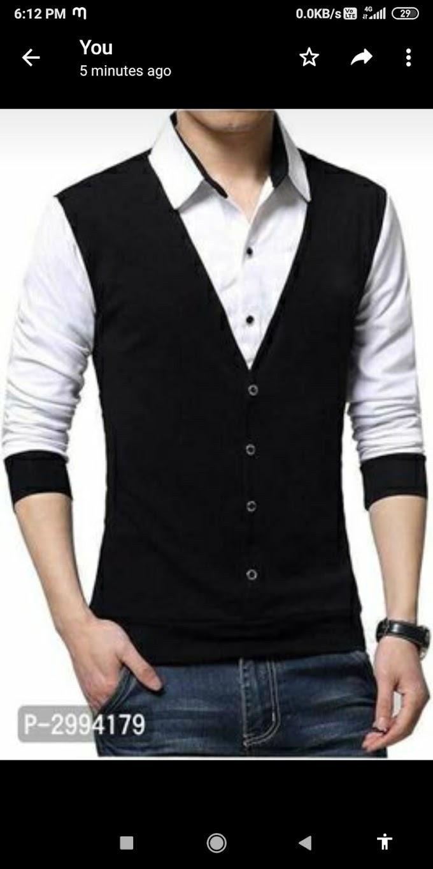 Self patarn cotton men t-shirt