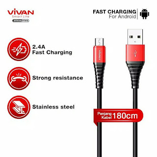 Kabel Data VIVAN Micro USB SM180