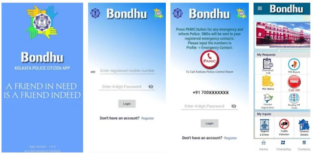 Download & Install Bondhu Kolkata Police Citizen App Mobile App