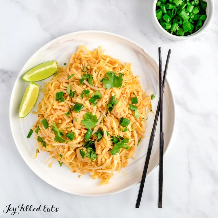 Keto Low Carb Chicken Pad Thai Chinese Food