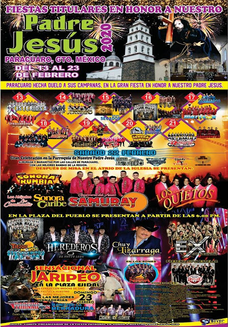 programa fiestas patronales parácuaro 2020