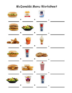 Fast Food Worksheets Activities