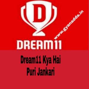 Dream11 क्या है पूरी जानकारी हिंदी में।