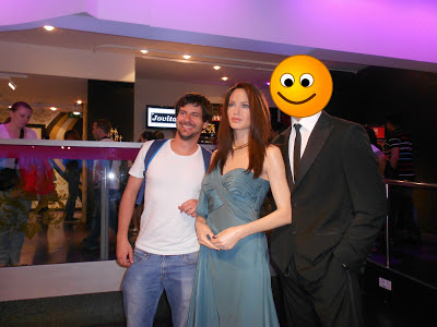 Eu e Angelina Jolie e Smiley (Brad Pitty) no Madame Tussauds