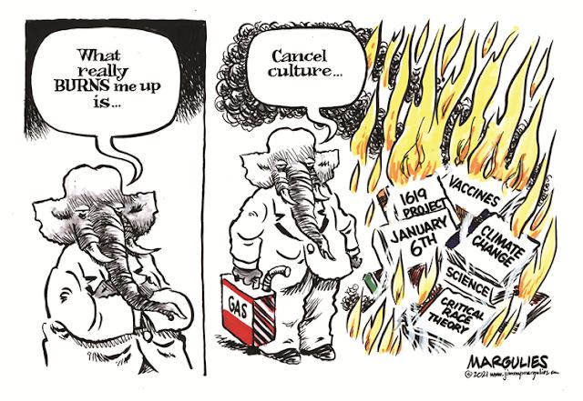 Frame One:  Republican Elephant says,