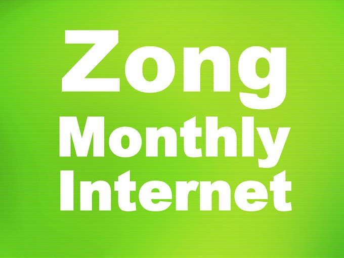 Zong Monthly Internet Packages - Price & Details
