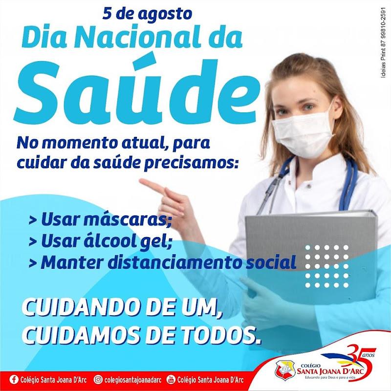 Colégio Santa Joana D'Arc promove incentivo os alunos e familiares no dia nacional da saúde.