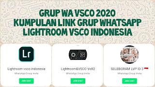 Link grup whatsapp lightroom vsco editing