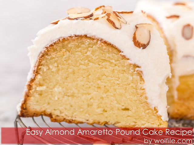 Easy Almond Amaretto Pound Cake Recipe