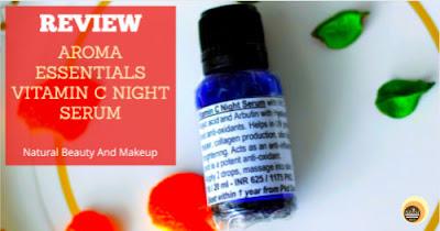 Aroma auraganic essentials vitamin c night serum review