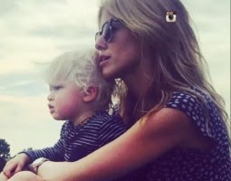 Sarah wright with her son Wyatt Oliver Olsen