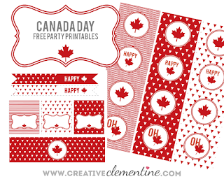 Canada Day party printables