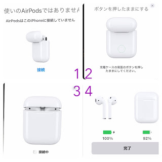 AirPods接続時にiPhoneに表示されるポップアップ表示
